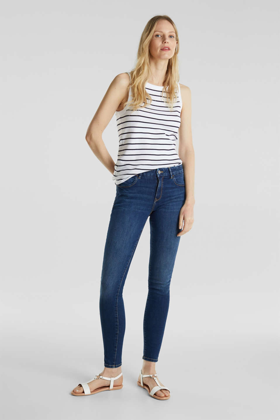 Striped T-shirt, organic cotton, WHITE, detail image number 1