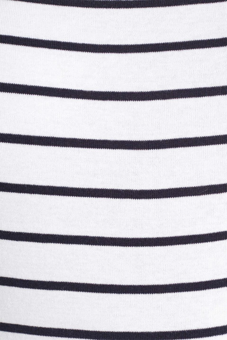 Striped T-shirt, organic cotton, WHITE, detail image number 4