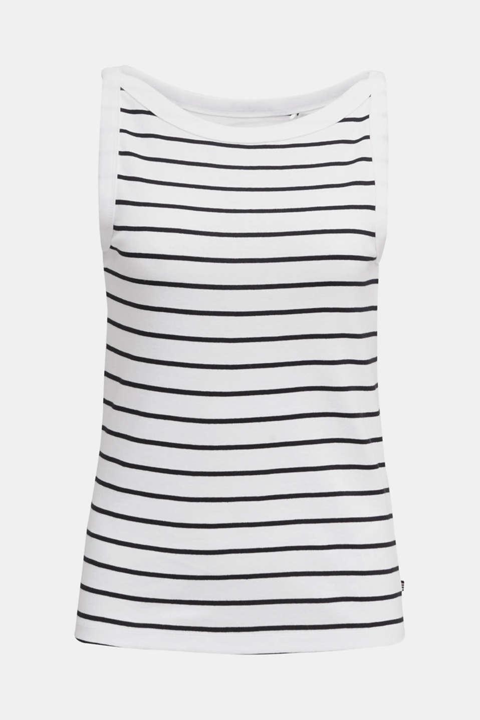 Striped T-shirt, organic cotton, WHITE, detail image number 6