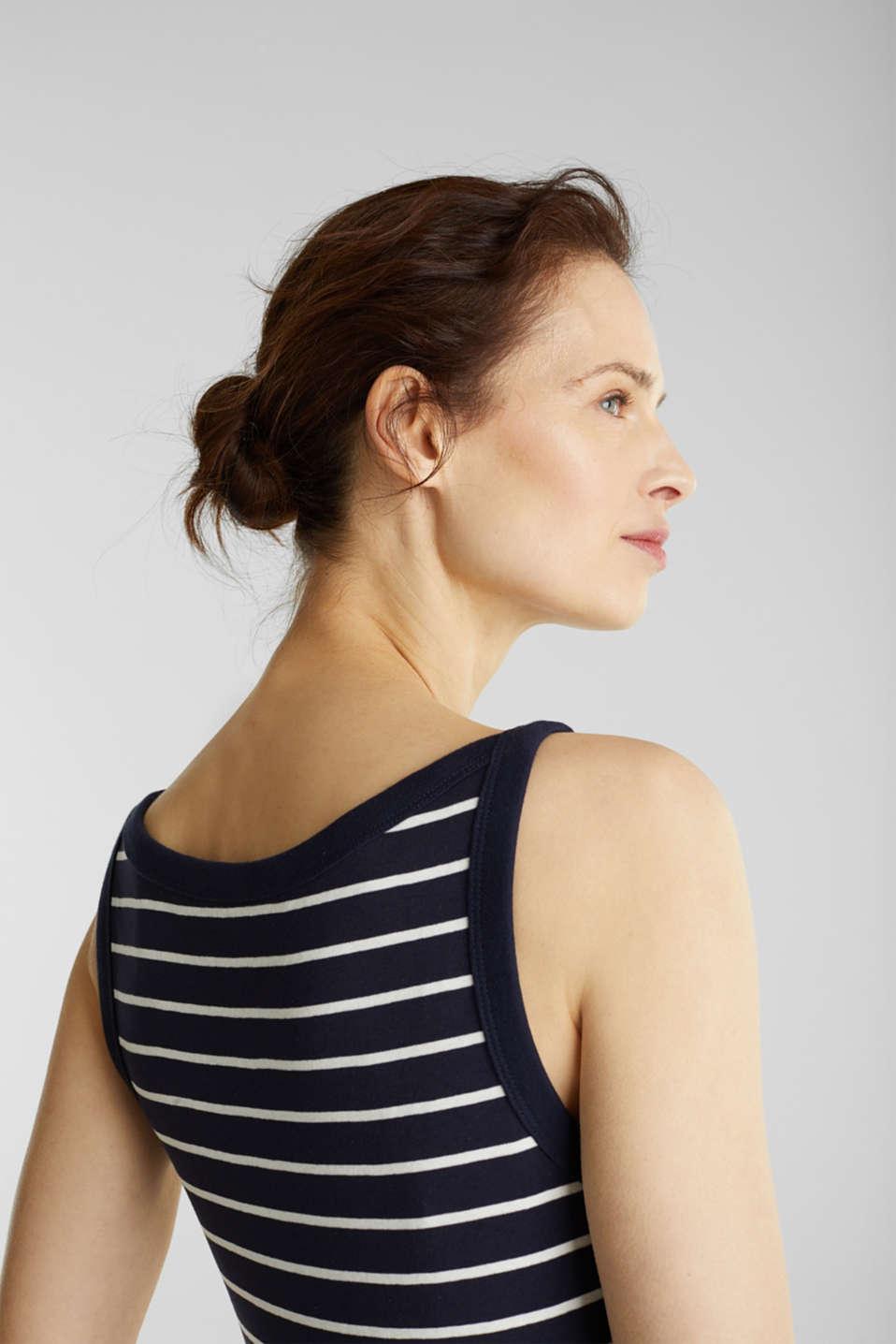 Striped T-shirt, organic cotton, NAVY, detail image number 3