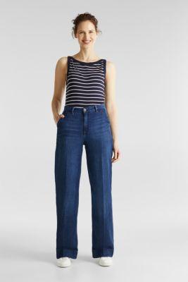 Striped T-shirt, organic cotton, NAVY, detail
