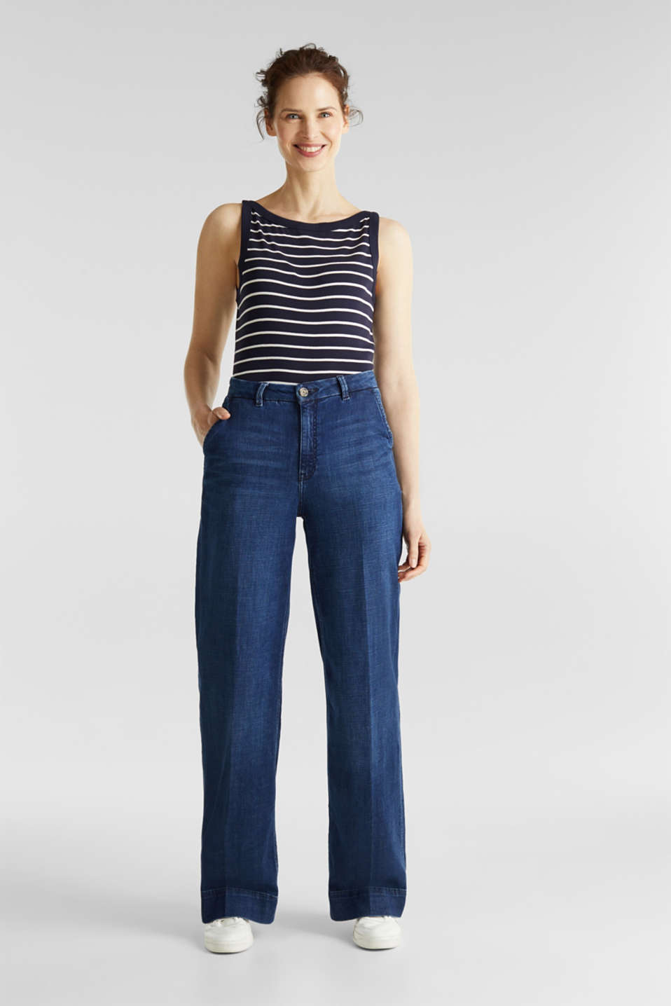Striped T-shirt, organic cotton, NAVY, detail image number 1