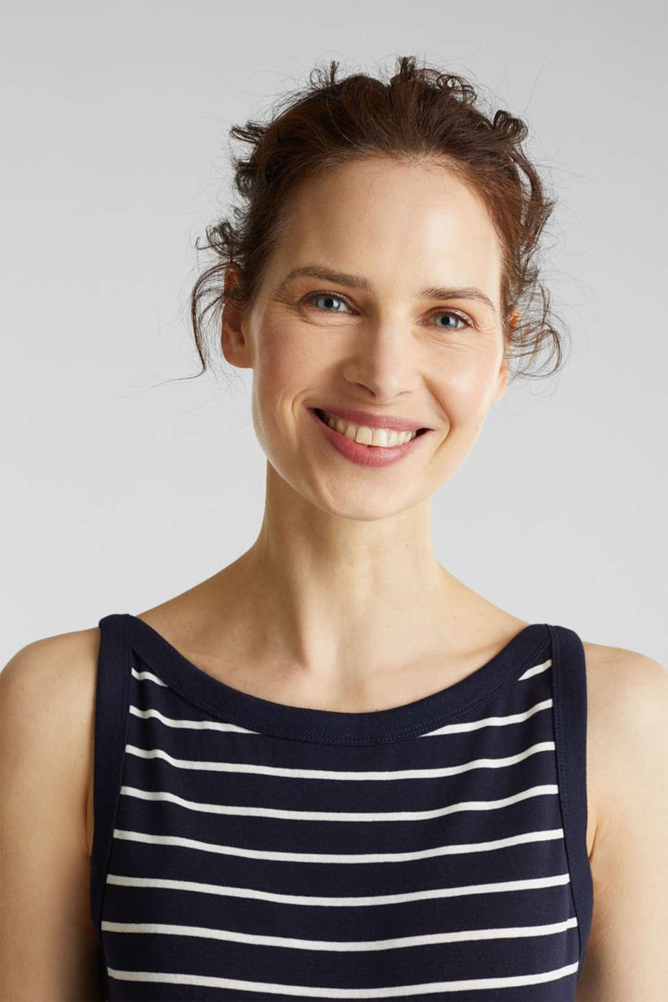 Striped T-shirt, organic cotton, NAVY, detail image number 2