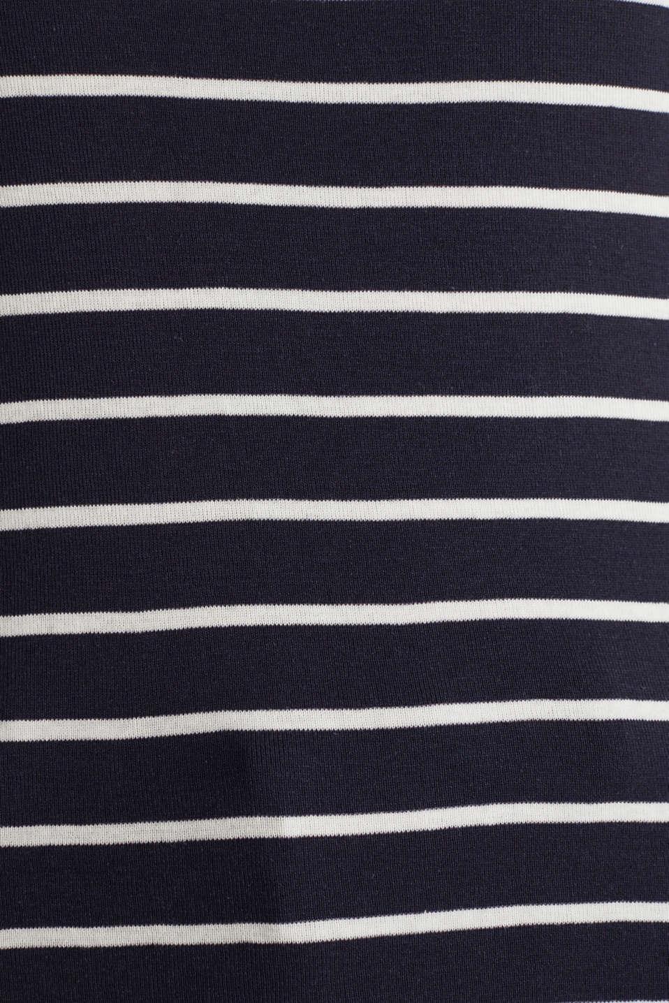 Striped T-shirt, organic cotton, NAVY, detail image number 4