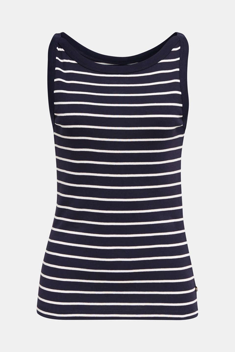 Striped T-shirt, organic cotton, NAVY, detail image number 5