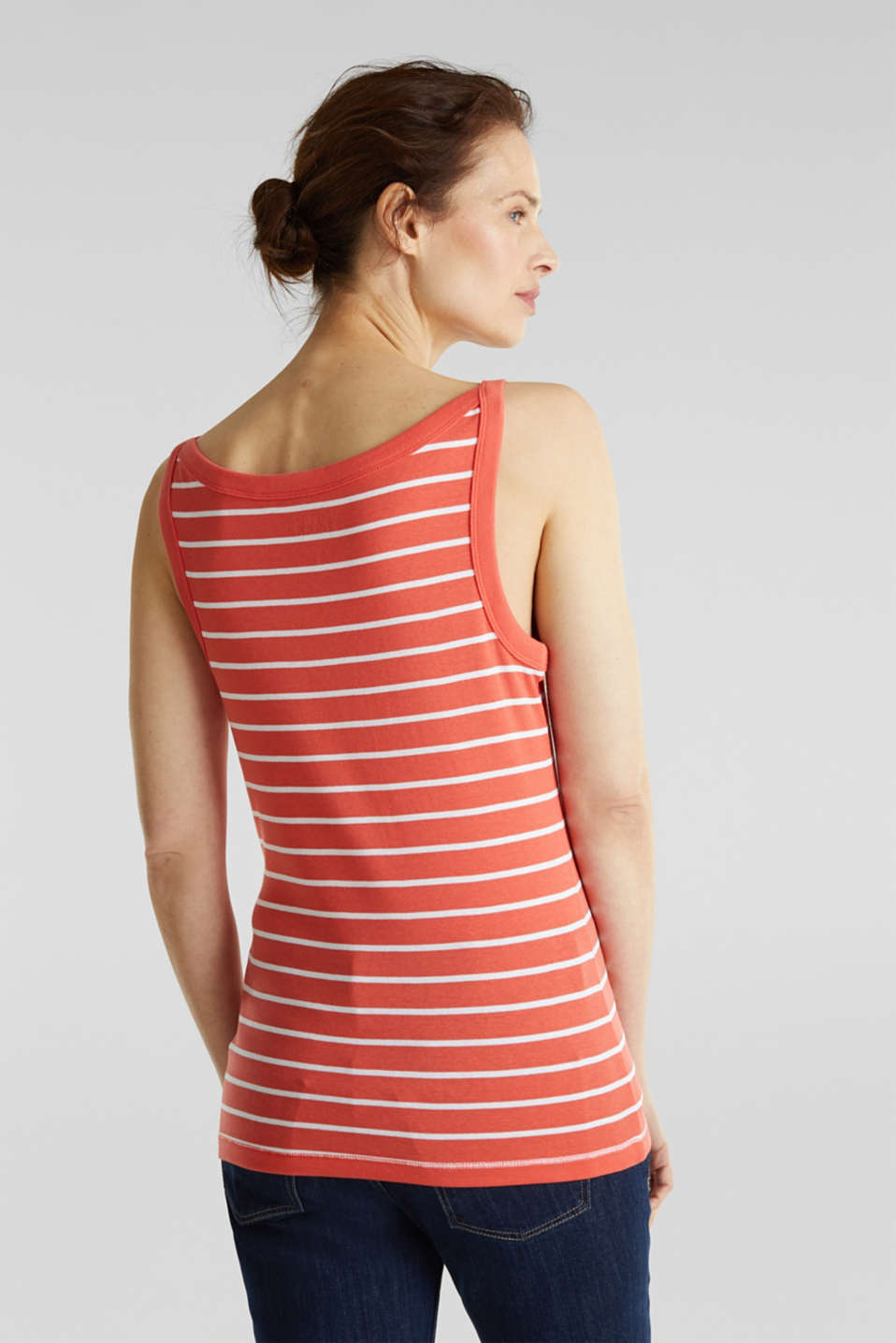 Striped T-shirt, organic cotton, CORAL 4, detail image number 3