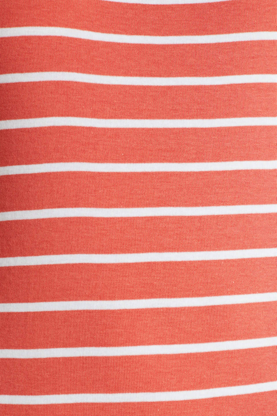 Striped T-shirt, organic cotton, CORAL 4, detail image number 4