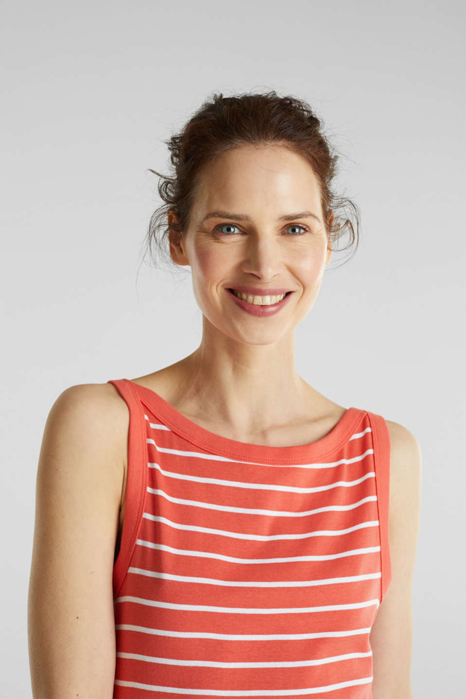 Striped T-shirt, organic cotton, CORAL 4, detail image number 6