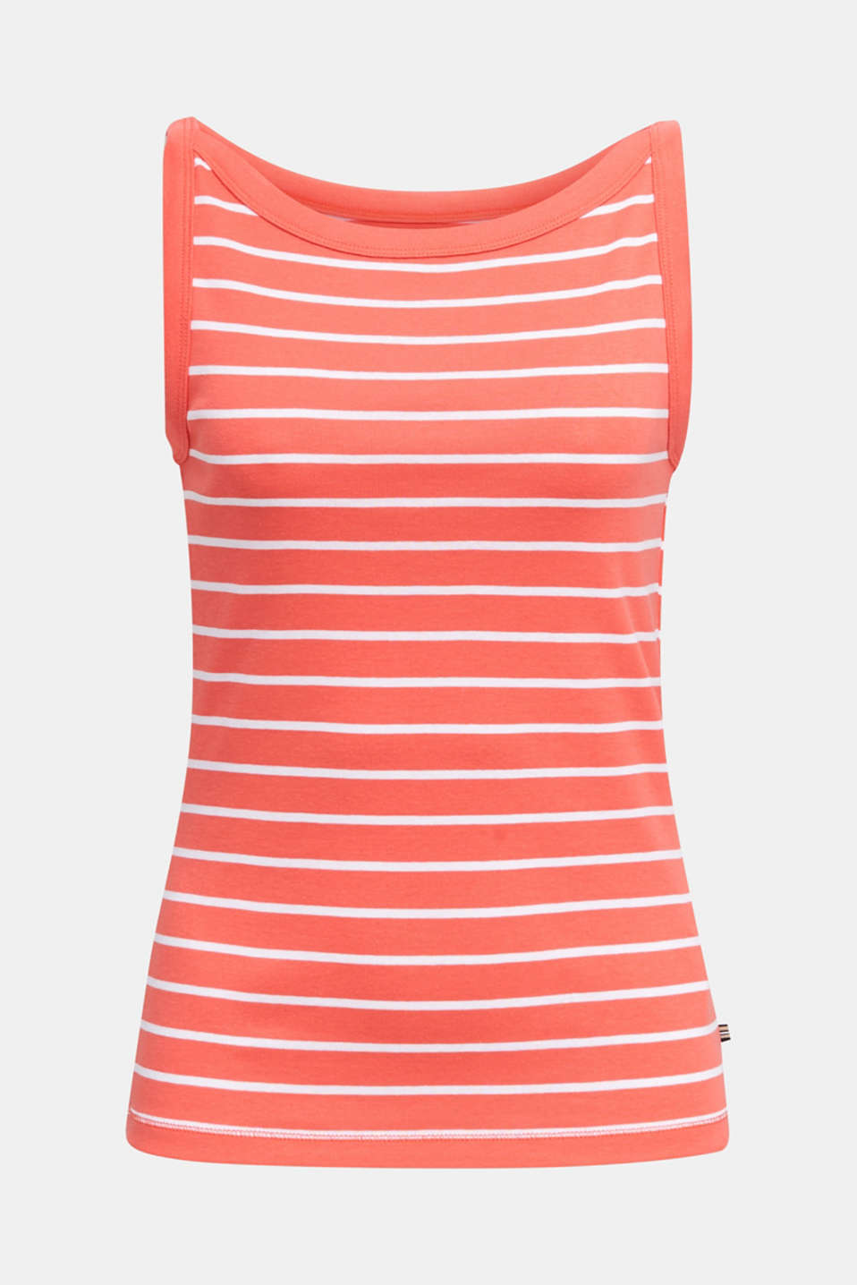 Striped T-shirt, organic cotton, CORAL 4, detail image number 7