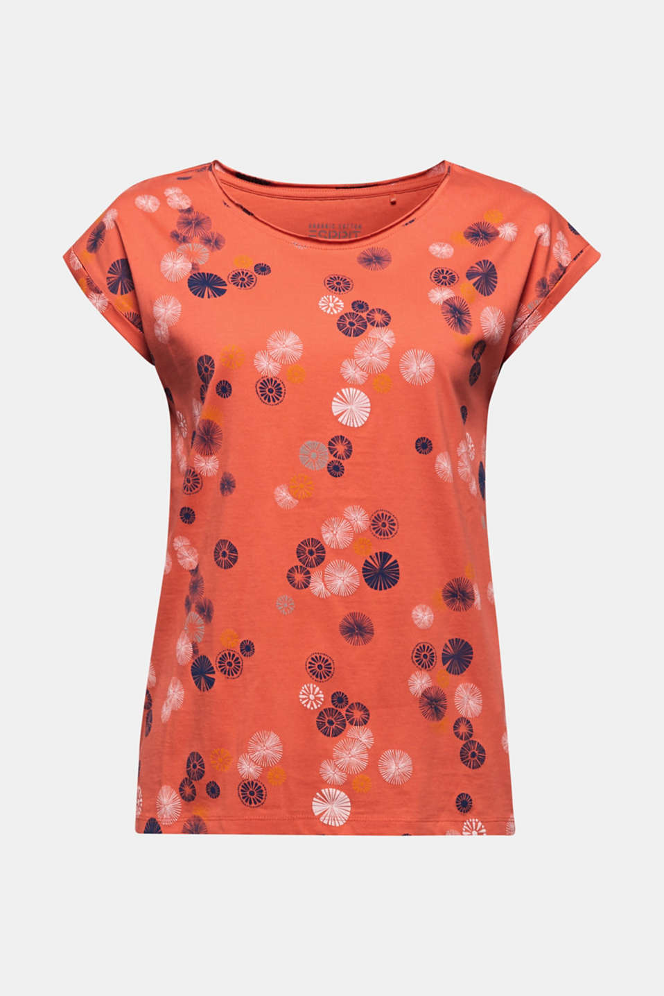 Printed top made of 100% organic cotton, CORAL, detail image number 5