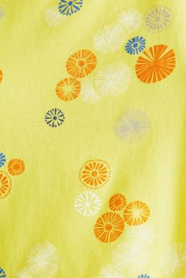 Printed top made of 100% organic cotton, BRIGHT YELLOW, detail