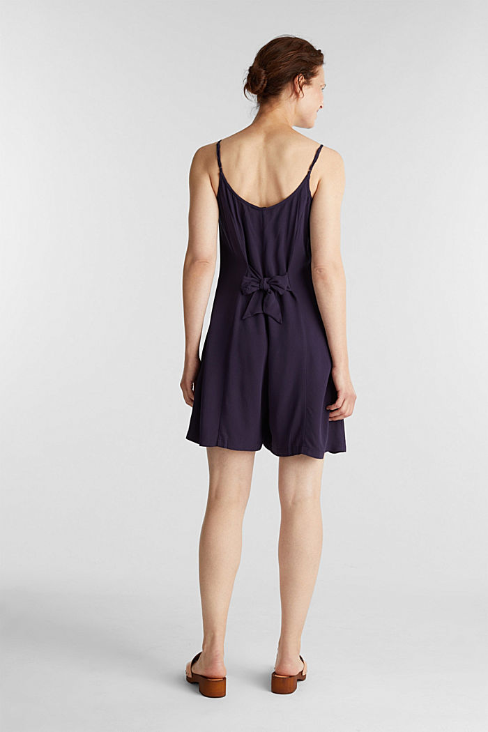 Playsuit with a button placket, NAVY, detail image number 3