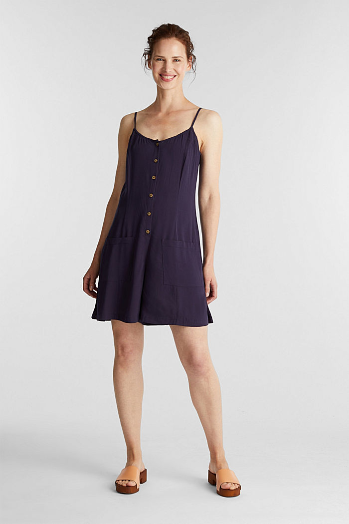 Playsuit with a button placket, NAVY, detail image number 1