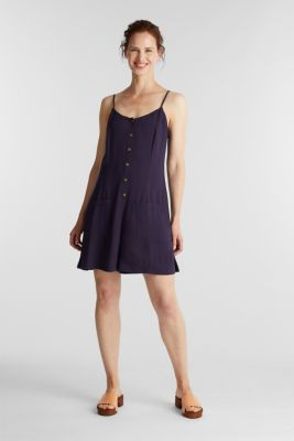 Playsuit with a button placket, NAVY, detail