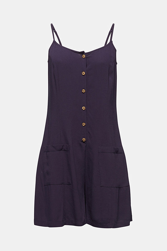 Playsuit with a button placket, NAVY, detail image number 6