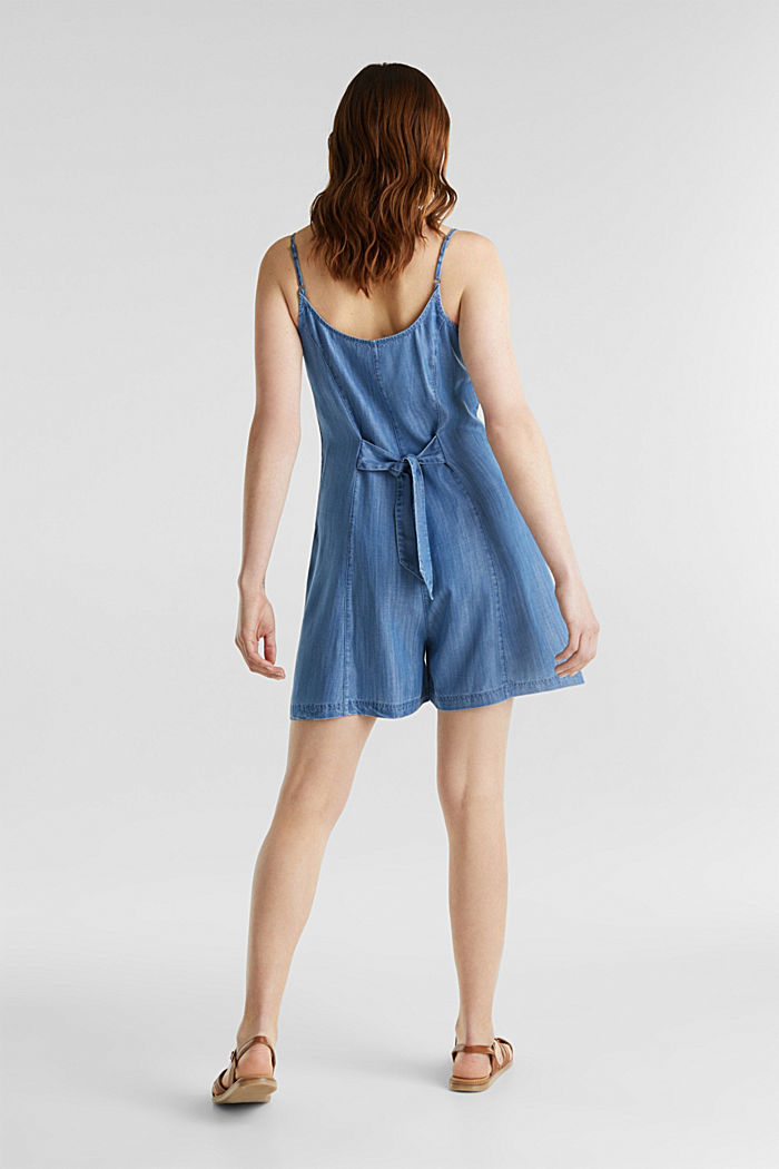 Made of TENCEL™: denim playsuit, BLUE LIGHT WASHED, overview