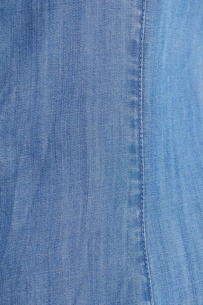 Aus TENCEL™: Denim-Playsuit, BLUE LIGHT WASHED, detail image number 4