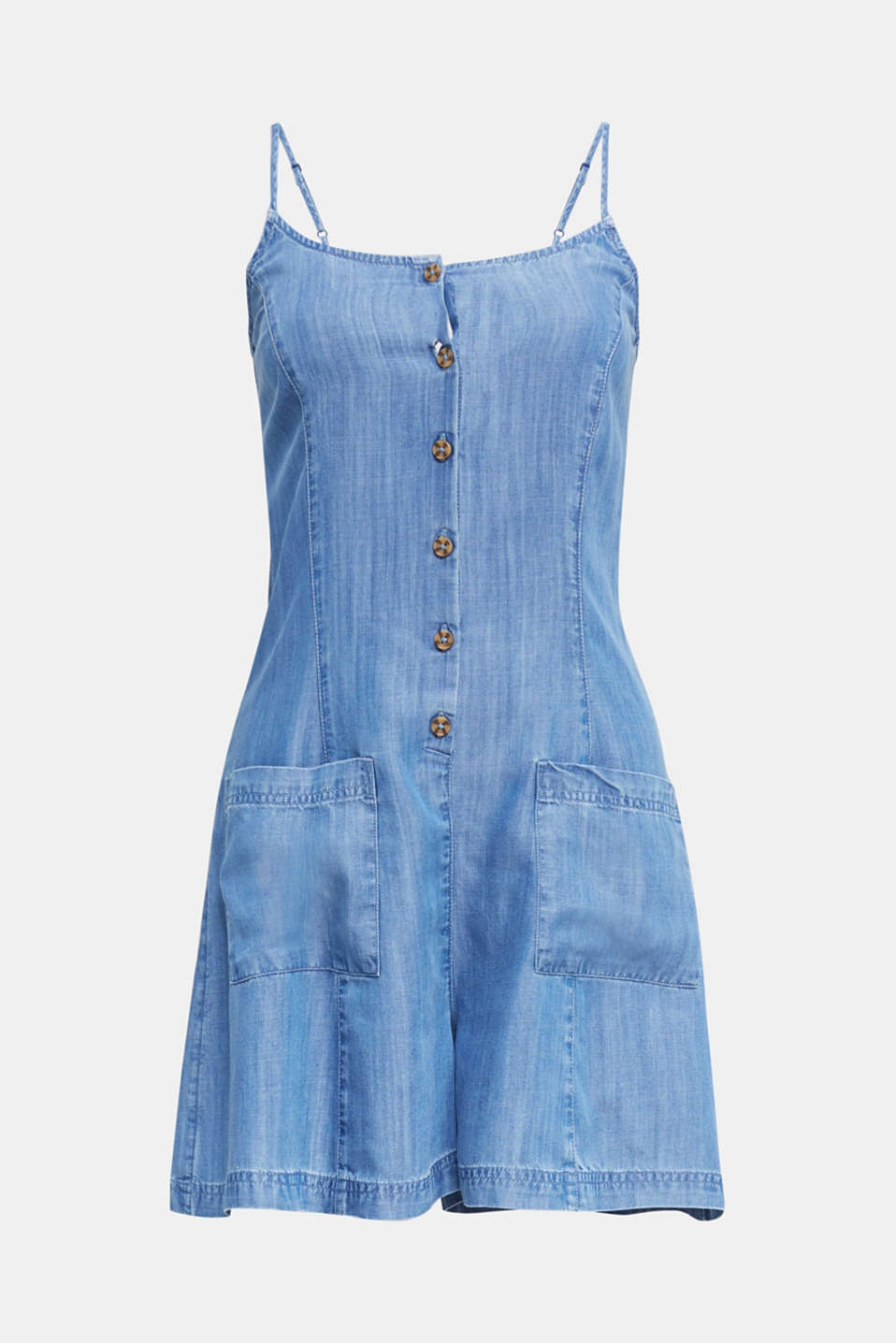Made of TENCEL™: denim playsuit, BLUE LIGHT WASH, detail image number 6