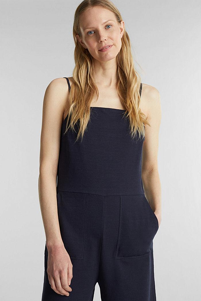 Blended linen jumpsuit, NAVY, detail image number 0