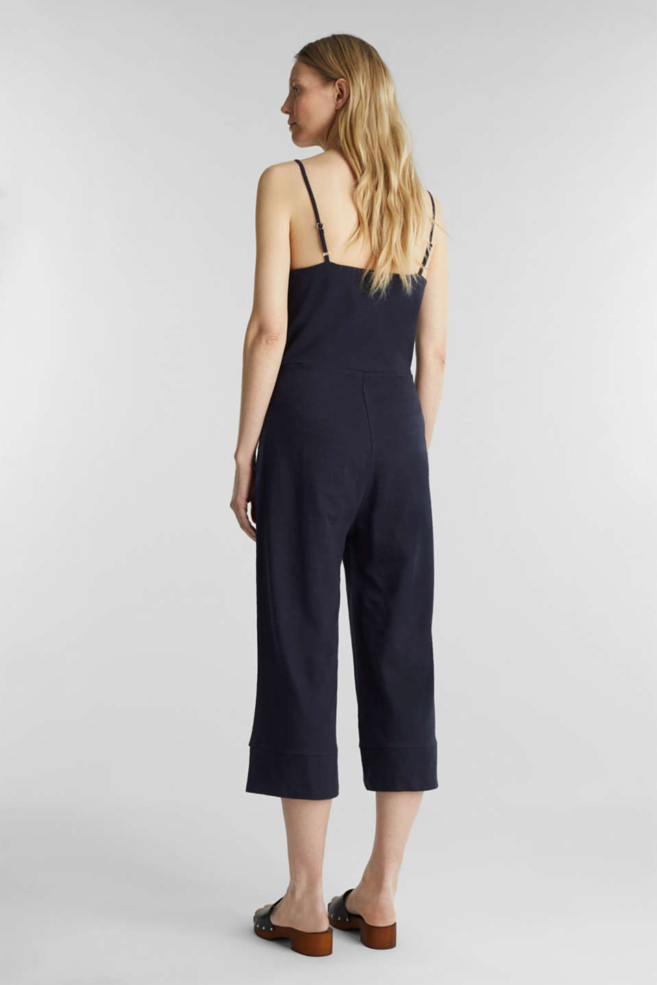 Blended linen jumpsuit, NAVY, detail image number 2