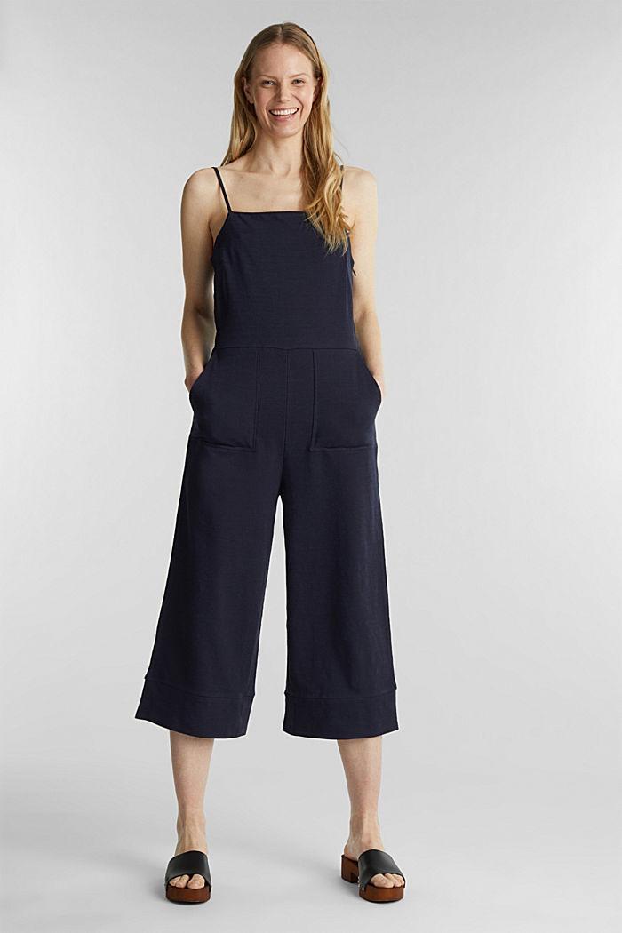 Blended linen jumpsuit, NAVY, detail image number 1