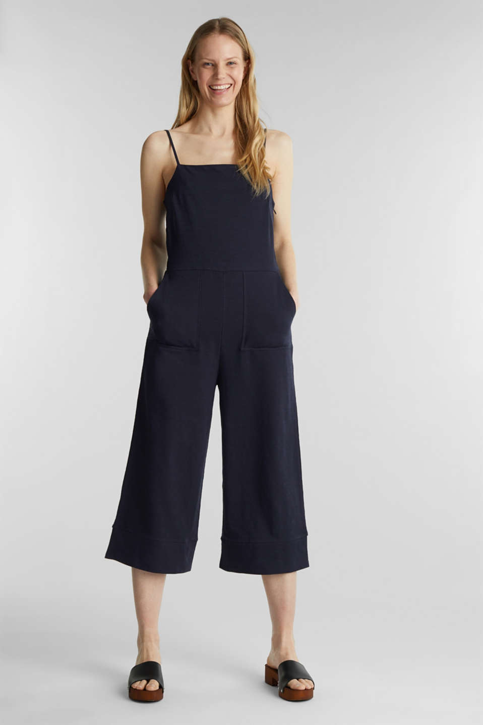 Blended linen jumpsuit, NAVY, detail image number 1