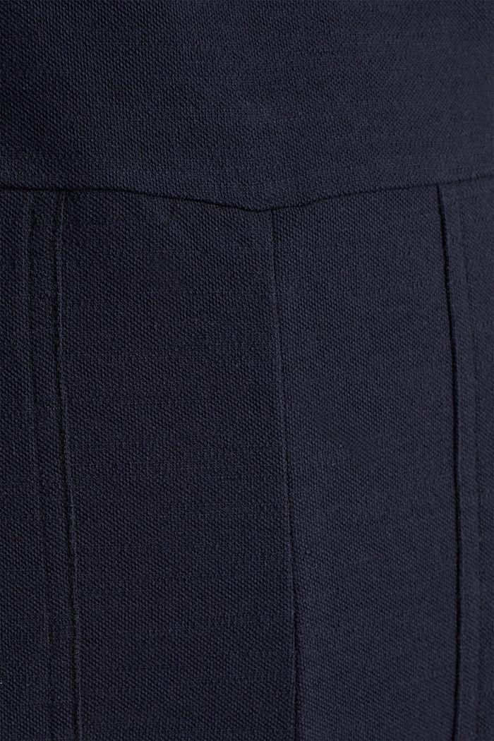 Blended linen jumpsuit, NAVY, detail image number 4