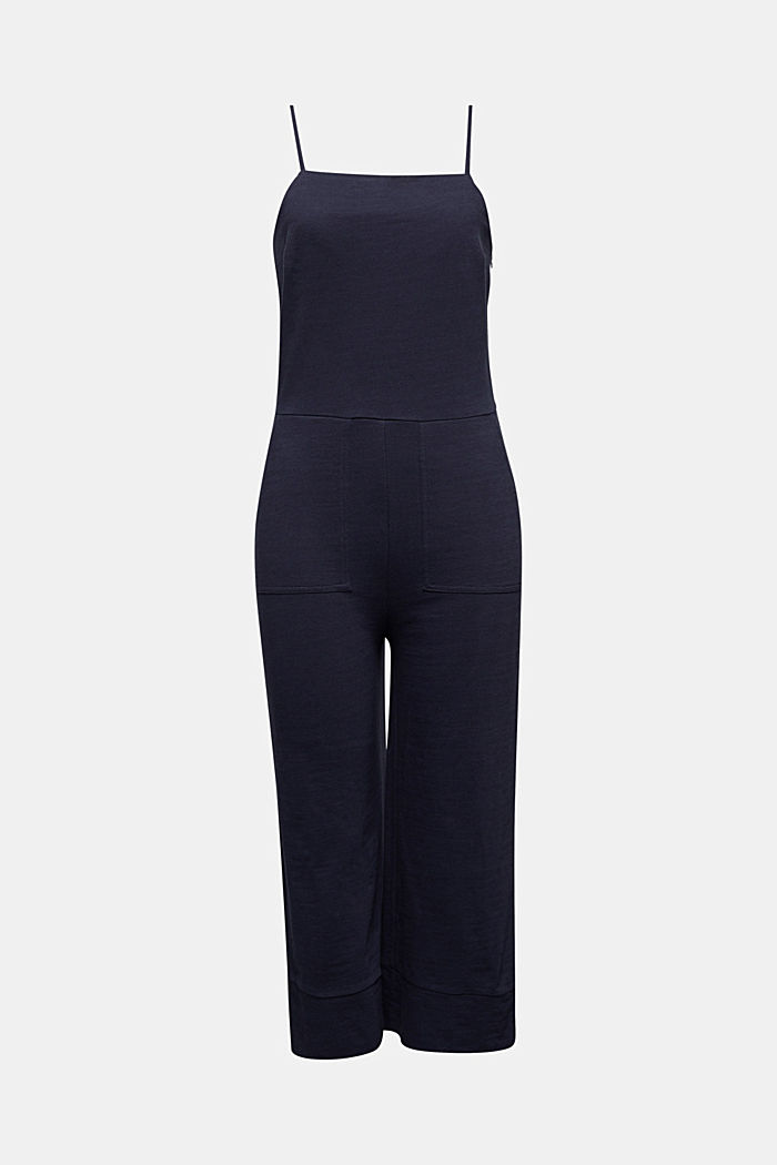 Mit Leinen: Jumpsuit, NAVY, overview