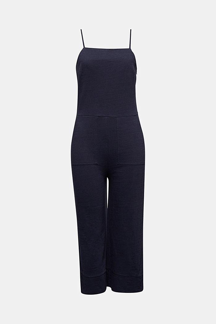 Blended linen jumpsuit, NAVY, detail image number 6
