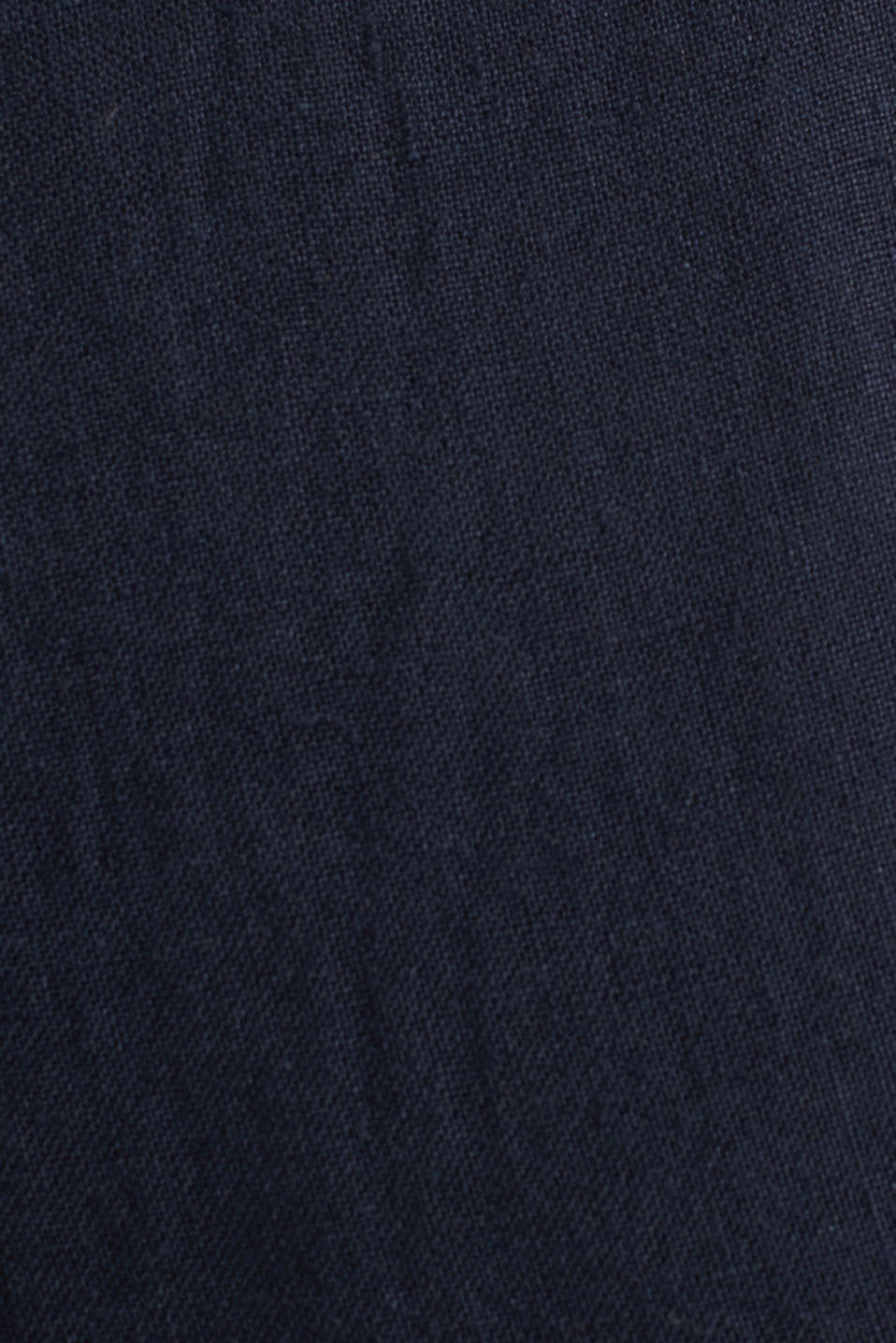 100% linen: trousers with a drawstring waistband, NAVY, detail image number 4