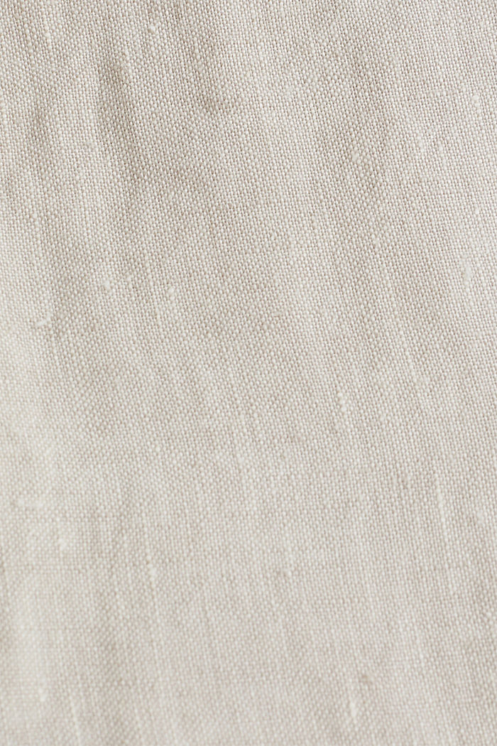 100% linen: shorts with a drawstring, BEIGE, detail image number 4