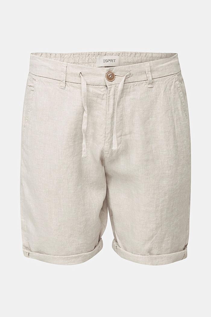 100% lin: le short à cordon de serrage