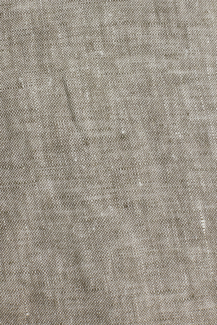100% linen: shorts with a drawstring, LIGHT KHAKI, detail image number 4
