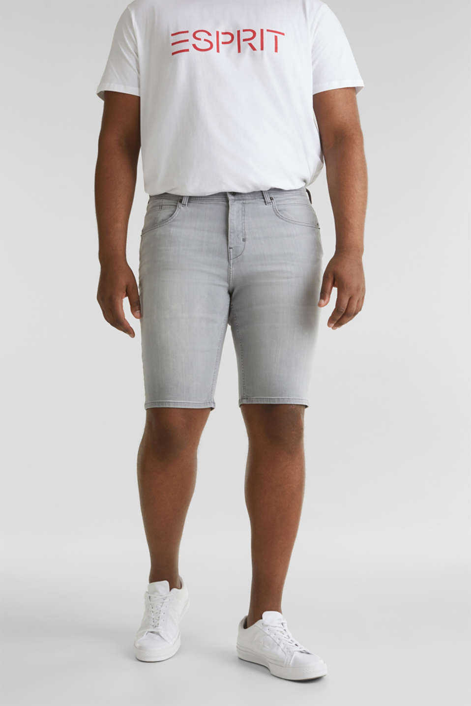 Esprit - Denim-Shorts im bleached Look
