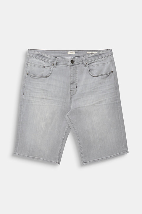 Denim shorts in a bleached look