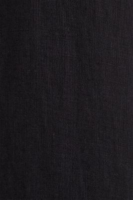 100% linen: button-down shirt, BLACK, detail