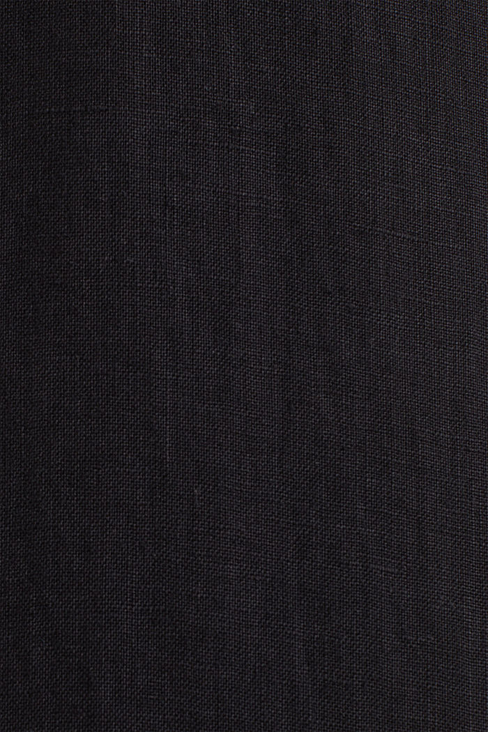 100% Leinen: Button-Down-Hemd, BLACK, detail image number 3