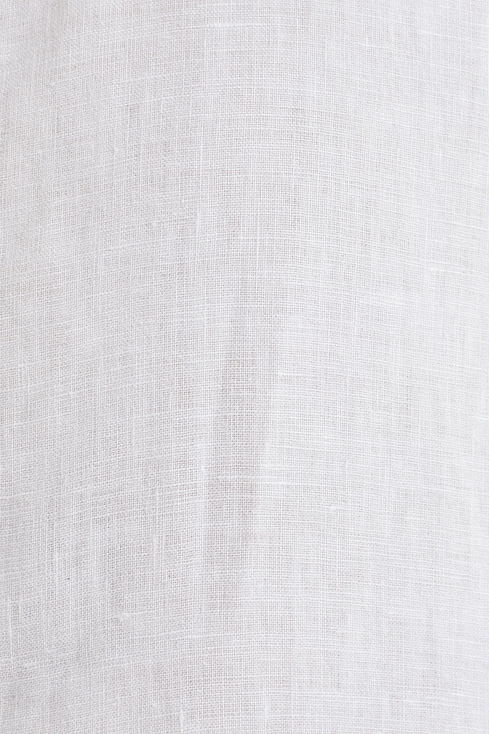 100% linen: button-down shirt, WHITE, detail image number 4