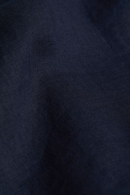 100% linen: button-down shirt, NAVY, detail