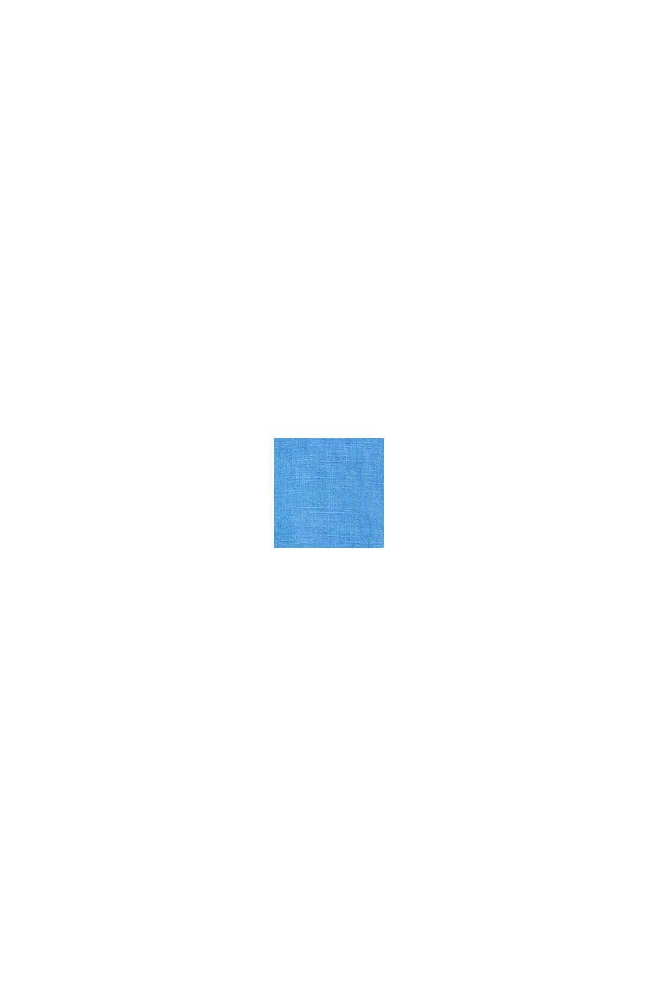 100 % pellavaa: nappikauluspaita, BLUE, swatch