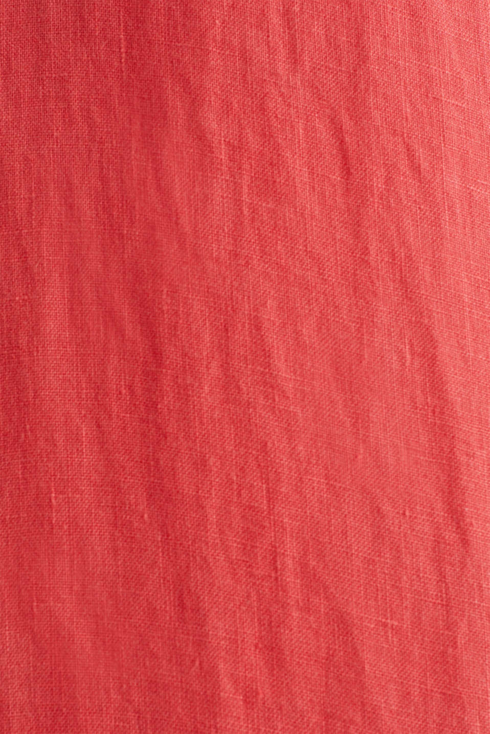 100% linen: button-down shirt, CORAL RED, detail image number 2