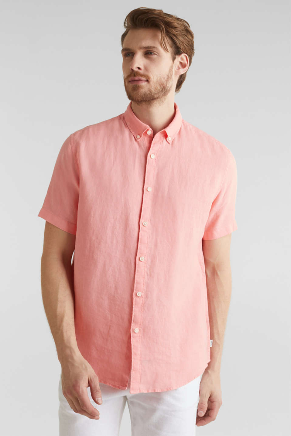 Esprit - 100% Leinen: Button-Down-Hemd