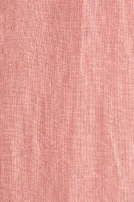 100% linen: button-down shirt, BLUSH, detail