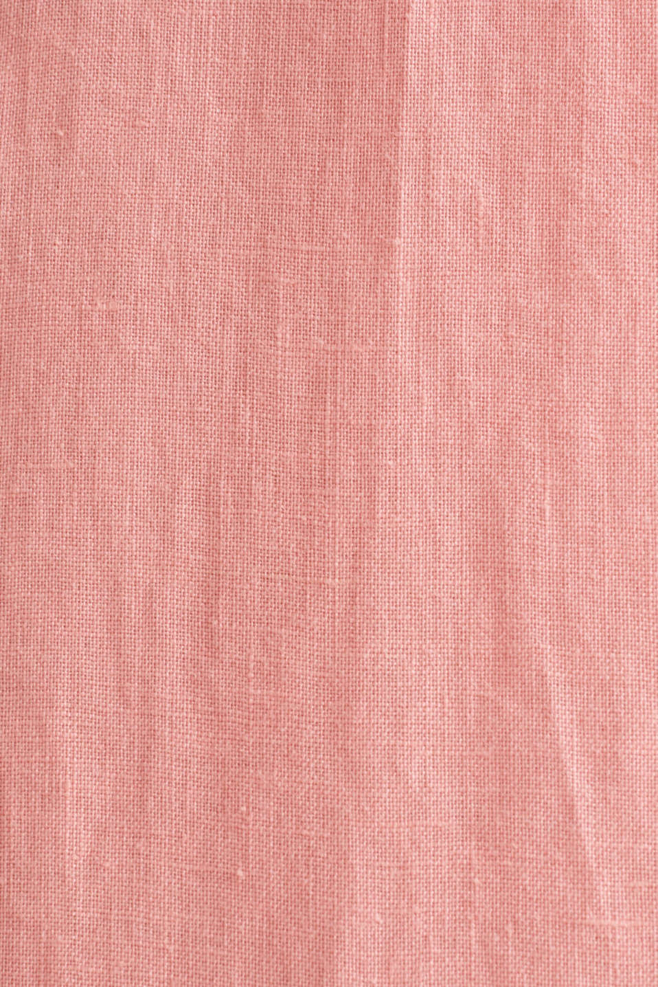 100% linen: button-down shirt, BLUSH, detail image number 4