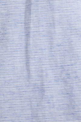 Melange short-sleeved shirt with linen, PASTEL BLUE, detail