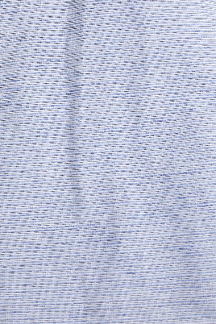 Melange short-sleeved shirt with linen, PASTEL BLUE, detail image number 4