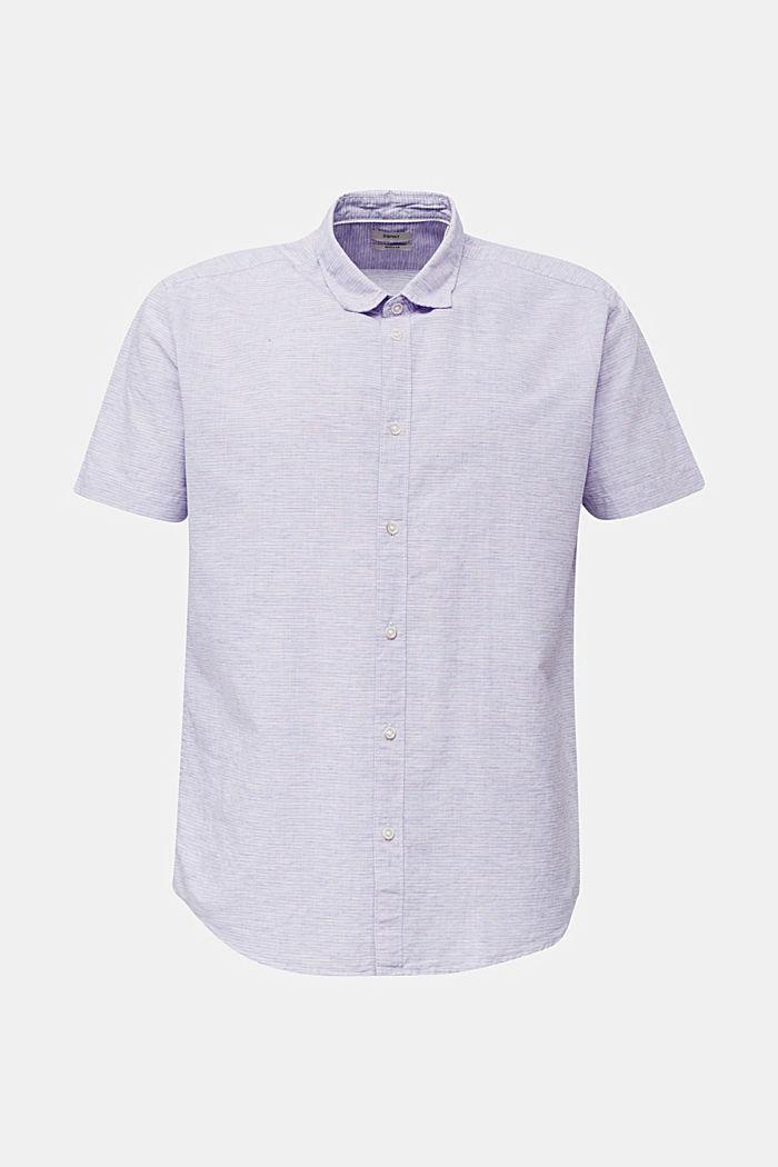 Melange short-sleeved shirt with linen, ORANGE RED, detail image number 5