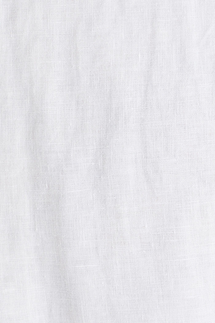 Made of 100% linen: Short-sleeved shirt, WHITE, detail image number 4