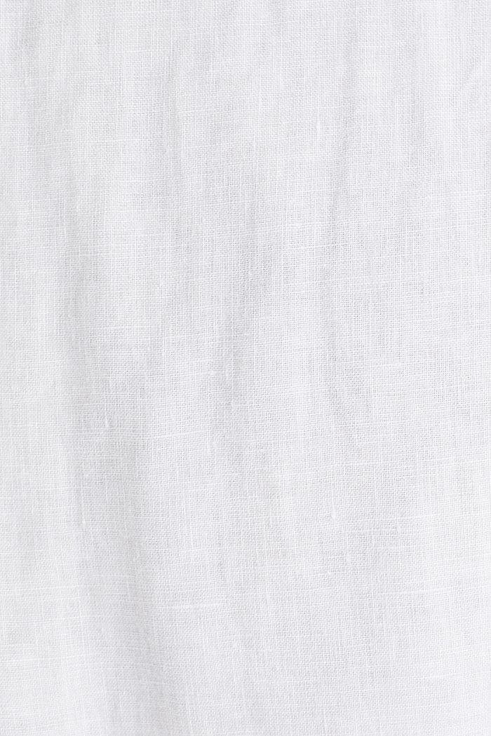100 % pellavaa: lyhythihainen kauluspaita, WHITE, detail image number 4