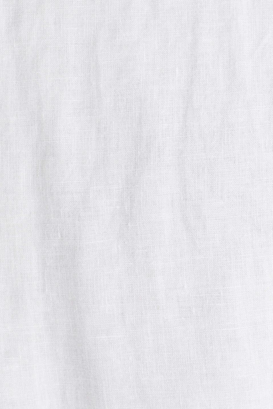 Made of 100% linen: Short-sleeved shirt, WHITE, detail image number 4